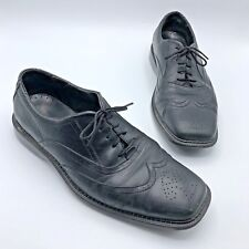 Red Wing Shoes 4790 Men Black Leather Wingtip Oxford Shoe SZ 10EE Size Pre Owned