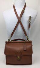 Vintage Coach Willis Station British Tan Leather Cross Body Shoulder Bag 9927