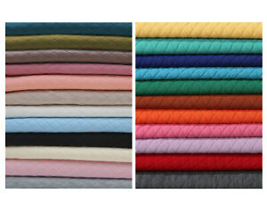 Quilted Knit Jersey Fabric Double Layer Knitted,Harlequin Diamond Shape,Insulate