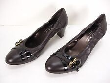 NEW AGL ATTILIO GIUSTI LEOMBRUNI LEATHER PUMPS SHOES WOMEN 42.5