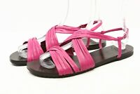 COLE HAAN Womens dress Sandals size 8 Pink Leather Flats Ankle Strap shoes CUTE