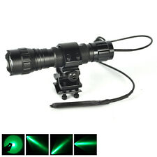 1Mode Green Light LED 501B Hog Night Hunting Flashlight For Rifle W/Scope Mount
