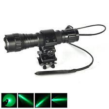 1Mode Green Light LED 501B Hog Night Hunting Flashlight For Rifle W/Scope Mount