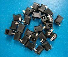 SC-2 PCB Mount 2.5mm DC Power Supply Jack 3-Pin, 2.5x5.5mm, Qty.25