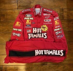 Race Used Elton Sawyer #98 Hot Tamales Racing Pit Crew Fire Jacket/Pant NASCAR