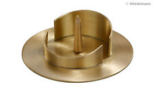 Kerzenständer Messingleuchter für Ø 70mm Kerzen  Gold / Kommunion/ Taufe / NEU
