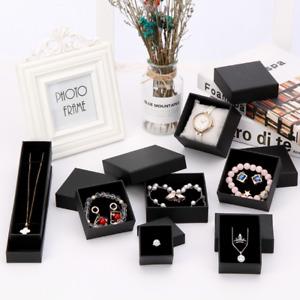 EMPTY BLACK GIFT BOX IDEAL FOR WATCHES BRACELETS JEWELLERY BIRTHDAY PRESENTATION