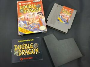 Double Dragon Nintendo NES Video Game System Box Manual Tradewest
