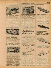 1961 ADVERT Lindberg Toy Battleship New Jersay Amphibious Duck Tug Boat Jaguar