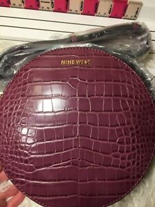 Ninewest Round About Circle Crossbody Bag with 2 Compartments