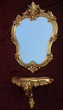 Wall Mirror with Console Gold 50x35 Baroque Storage C444