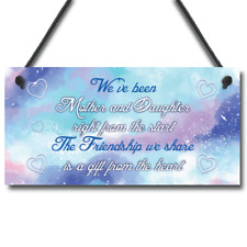 Mother And Daughter Keepsake Gift For Christmas Birthday Sign THANK YOU Present