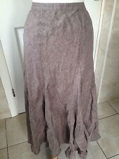 Monsoon Ladies Brown Linen Long Skirt 14. New With Tags RRP £55.
