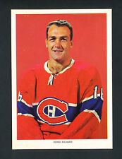 1963-65 CHEX CEREAL HOCKEY PHOTO HENRI RICHARD MONTREAL CANADIENS RARE series 1