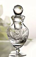 Marquis by Waterford Crystal Perfume Bottle Yours Truly Etched Heart 5.5 inches