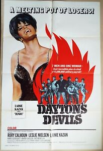 Dayton's Devils 1968 sexy Lainie Kazan, Rory Calhoun, Leslie Nielsen! US Poster