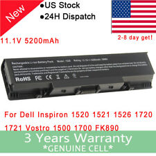 6 Cell Battery for Dell Vostro 1500 1700 Inspiron 1520 1521 1720 GK479 FK890 US