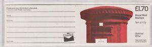 FT5A £1.70 Pillar Box Design Good Perfs