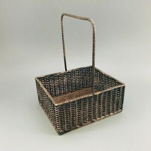 RARE ANTIQUE MAPPIN WEBB SILVER PLATE BASKET