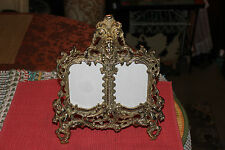 Brass Metal Victorian Style Photograph Picture Frame-Gilded Angels Cherubs