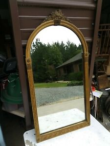 Antique Vintage Ornate Wooden Frame Wall Mirror