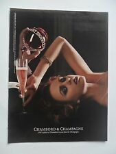 2005 Print Ad Chambord & Champagne ~ Sexy Girl Pour a Glass