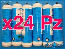 24 Bombola gas co2 600 gr E290 monouso gasatore acqua frizzante birra valv. 11x1