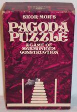 VINTAGE SKOR-MOR'S PAGODA PUZZLE GAME OF HARMONIOUS CONSTRUCTION - 1970'S - VGC