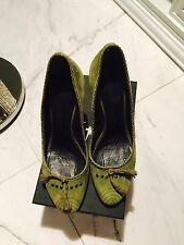 Giuseppe Zanotti Green Suede Shoes Pumps Sz 40