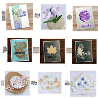 Greeting Words Box Flower Village Frame Metal Cutting Dies DIY Scrapbooking Card