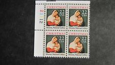 22c Madonna & Child Plate Block #2367 MNH