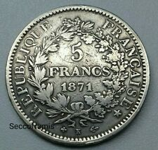 France. 5 Francs Hercule 1871 K Bordeaux RARE