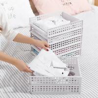 Detachable Wardrobe Organizer Clothes Storage Basket Multi layer Stackable Shelf