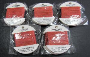 15xNeedlepoint/Embroidery THREAD WILTEX Vineyard Jewels metallic-Bronzite-VS386