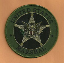 """UNITED STATES MARSHAL SERVICE SEAL PATCH 4"""" TACTICAL GREEN"""