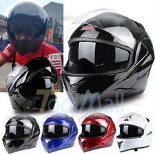 4 Colors DOT Modular Dual Visor Flip Up Motorcycle Helmet Motocross Full Face US
