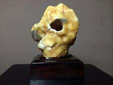 Natural polished Viewing stone suiseki-Gobi desert agate amazing cave specimen