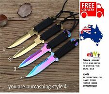 Rainbow Stainless Steel 440C 58HR Military Scuba Hunting Camping Knife