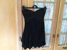 Black Sleeveless Short Dress Size 8/10 By Asos With A Slightly Boned Bodice.
