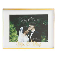 10'' x 8'' ''Mr + Mrs''  Gold Deep Photo Picture Frame Wedding Anniversary Gift