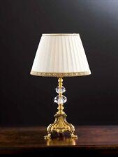 LUME LAMPADA IN OTTONE E CRISTALLO PARALUME AVORIO DECORO ORO 1x40W 1 LUCE