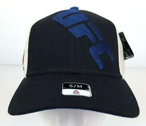 UFC Black, Blue & Vintage White Adjustable Hat w/ Stitched Logo UFC Licensed NWT