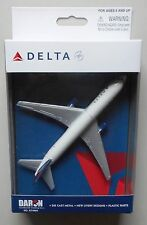 """DELTA AIRLINES MINIATURE SINGLE PLANE AIRPLANE 5"""" WINGSPAN DARON TOYS DIECAST"""