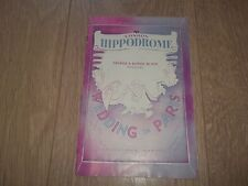 "LONDON HIPPODROME "" WEDDING IN PARIS "" PROGRAMME 1950's JEFF WARREN"
