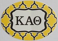 "Large Kappa Alpha Theta Beta Euro Style Waterproof Vinyl Decal Sticker 7"" X 5"""