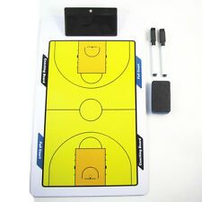 Double Sided Erasable Play Board with Pen Eraser for Basketball Tactic Coaches