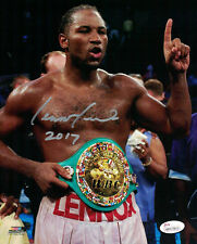 LENNOX LEWIS AUTOGRAPHED/SIGNED BOXING 8X10 PHOTO WITH BELT 14667 JSA