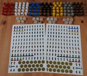Orleans – Upgrade Kit | 124 Wooden Figures + 290 Stickers | Accessory | New