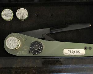 Daniels MFG DMC MH860 M22520/7-01 Hand Crimp Crimper Tool W/ Positioners