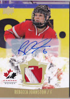 15-16 Team Canada Women Rebecca Johnston /199 Auto Patch Upper Deck 2015